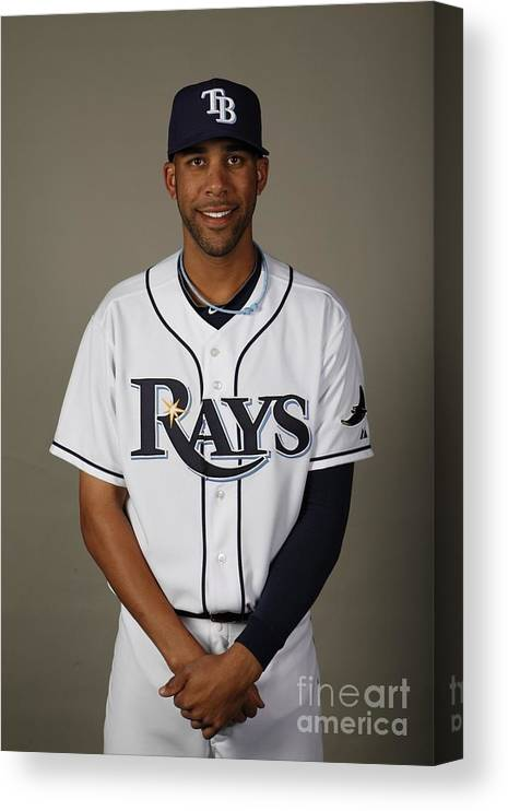 Media Day Canvas Print featuring the photograph David Price by Robert Rogers