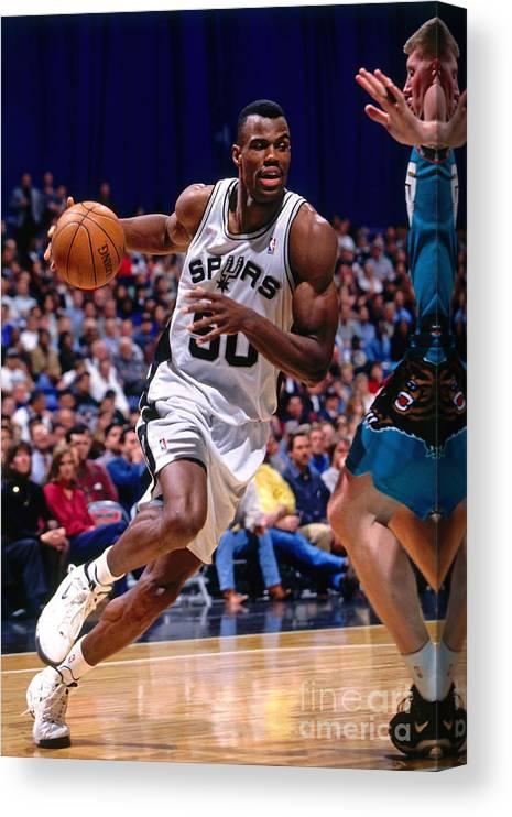 Nba Pro Basketball Canvas Print featuring the photograph David Robinson by Chris Covatta