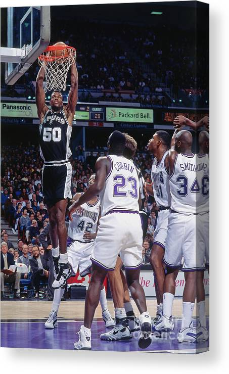 Nba Pro Basketball Canvas Print featuring the photograph David Robinson by Rocky Widner