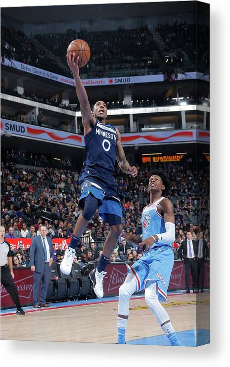 Nba Pro Basketball Canvas Print featuring the photograph De'aaron Fox and Jeff Teague by Rocky Widner