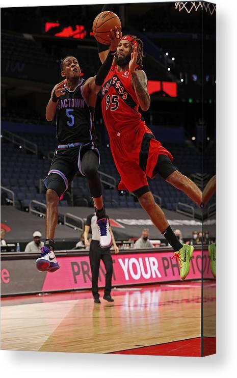 Nba Pro Basketball Canvas Print featuring the photograph De'aaron Fox by Scott Audette