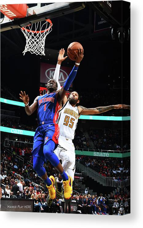 Atlanta Canvas Print featuring the photograph Deandre' Bembry by Scott Cunningham