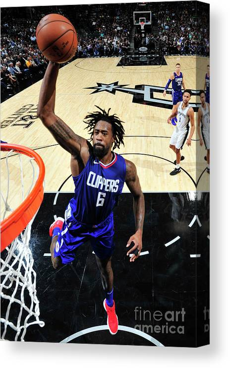 Nba Pro Basketball Canvas Print featuring the photograph Deandre Jordan by Mark Sobhani