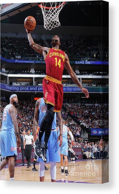 Nba Pro Basketball Canvas Print featuring the photograph Deandre Liggins by Rocky Widner