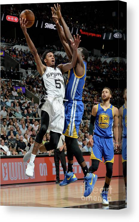 Nba Pro Basketball Canvas Print featuring the photograph Dejounte Murray by Mark Sobhani