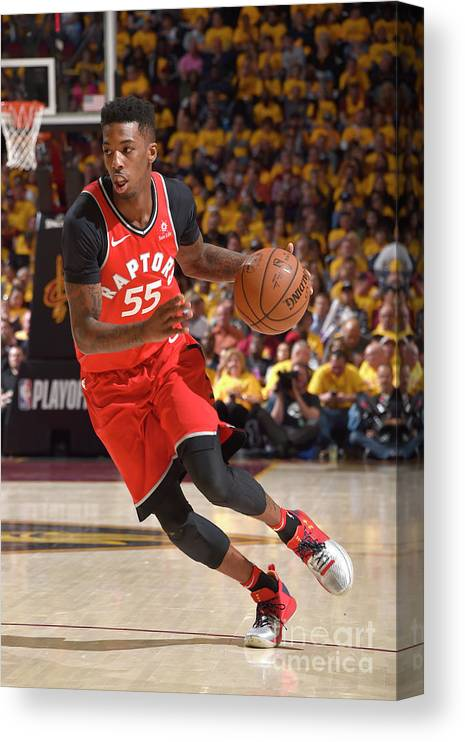 Playoffs Canvas Print featuring the photograph Delon Wright by David Liam Kyle