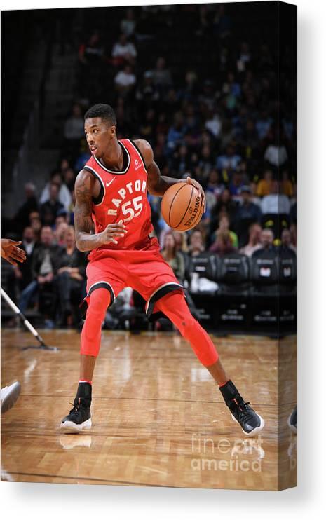 Nba Pro Basketball Canvas Print featuring the photograph Delon Wright by Garrett Ellwood