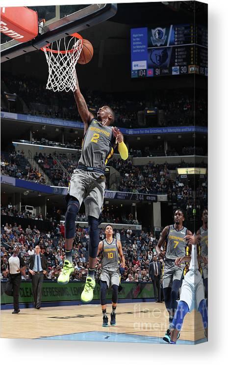 Nba Pro Basketball Canvas Print featuring the photograph Delon Wright by Joe Murphy