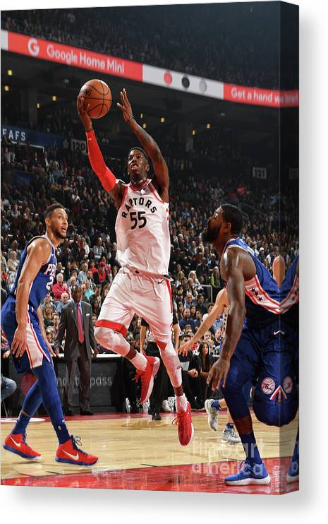 Nba Pro Basketball Canvas Print featuring the photograph Delon Wright by Ron Turenne