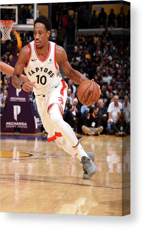 Nba Pro Basketball Canvas Print featuring the photograph Demar Derozan by Andrew D. Bernstein