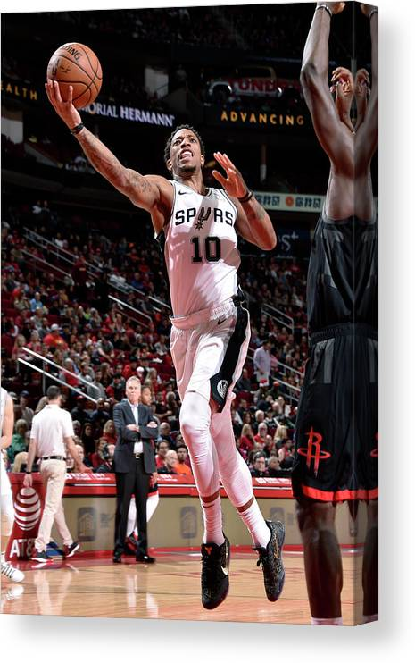 Nba Pro Basketball Canvas Print featuring the photograph Demar Derozan by Bill Baptist