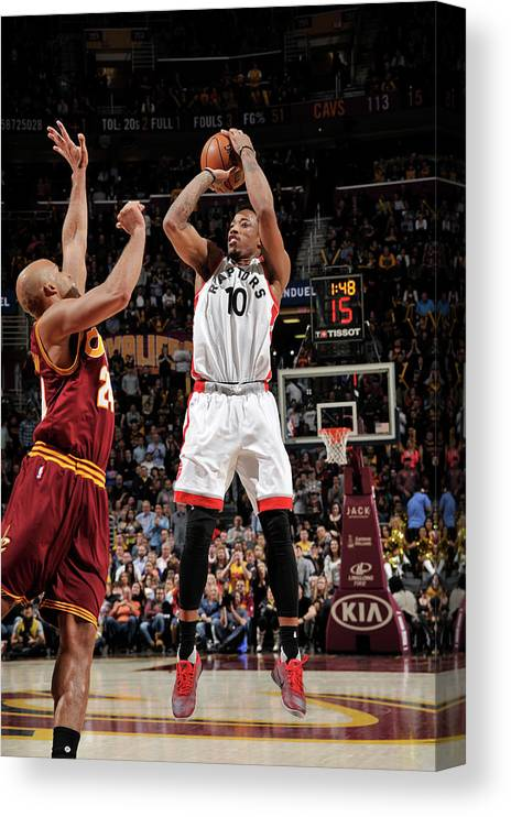 Nba Pro Basketball Canvas Print featuring the photograph Demar Derozan by David Liam Kyle