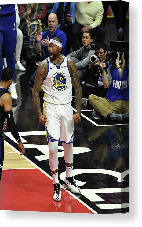 Nba Pro Basketball Canvas Print featuring the photograph Demarcus Cousins by Adam Pantozzi