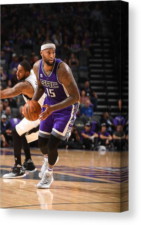 Nba Pro Basketball Canvas Print featuring the photograph Demarcus Cousins by Garrett Ellwood