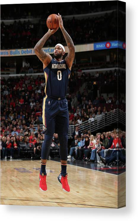 Nba Pro Basketball Canvas Print featuring the photograph Demarcus Cousins by Gary Dineen