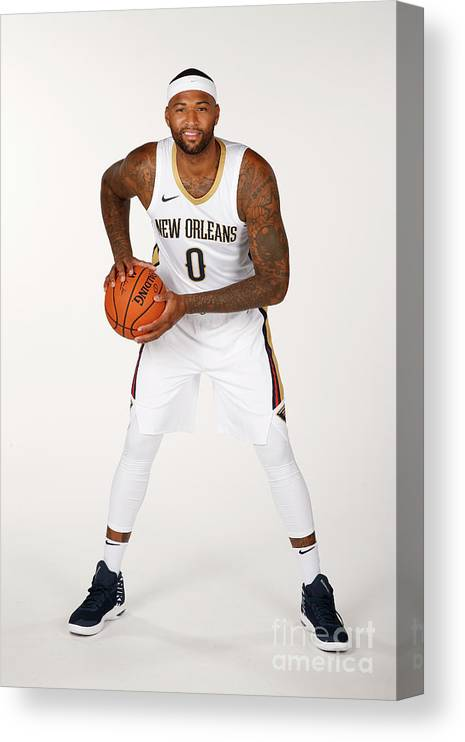 Media Day Canvas Print featuring the photograph Demarcus Cousins by Jonathan Bachman