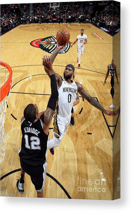 Smoothie King Center Canvas Print featuring the photograph Demarcus Cousins by Layne Murdoch Jr.