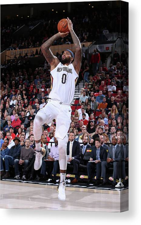 Nba Pro Basketball Canvas Print featuring the photograph Demarcus Cousins by Sam Forencich