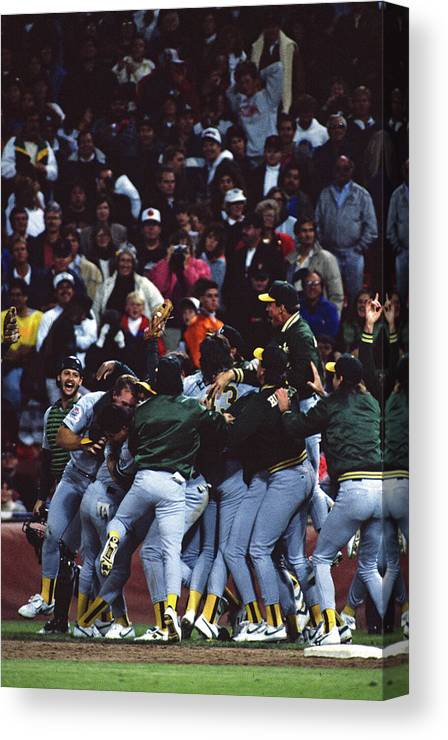 Candlestick Park Canvas Print featuring the photograph Dennis Eckersley by Mlb Photos