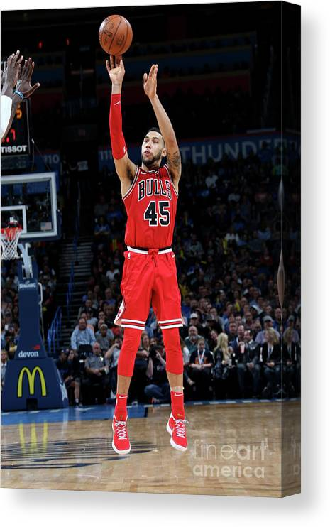 Nba Pro Basketball Canvas Print featuring the photograph Denzel Valentine by Layne Murdoch