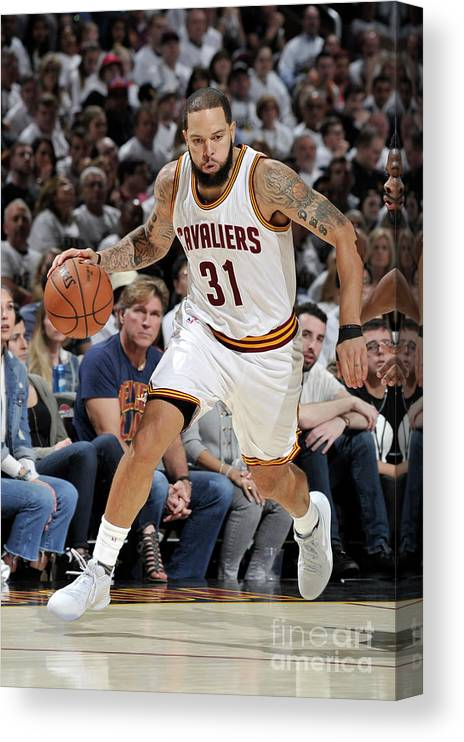 Playoffs Canvas Print featuring the photograph Deron Williams by David Liam Kyle