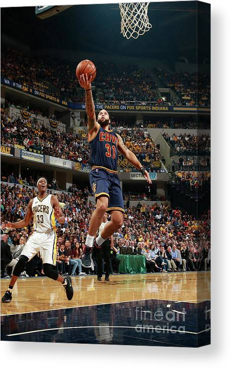 Playoffs Canvas Print featuring the photograph Deron Williams by Jeff Haynes