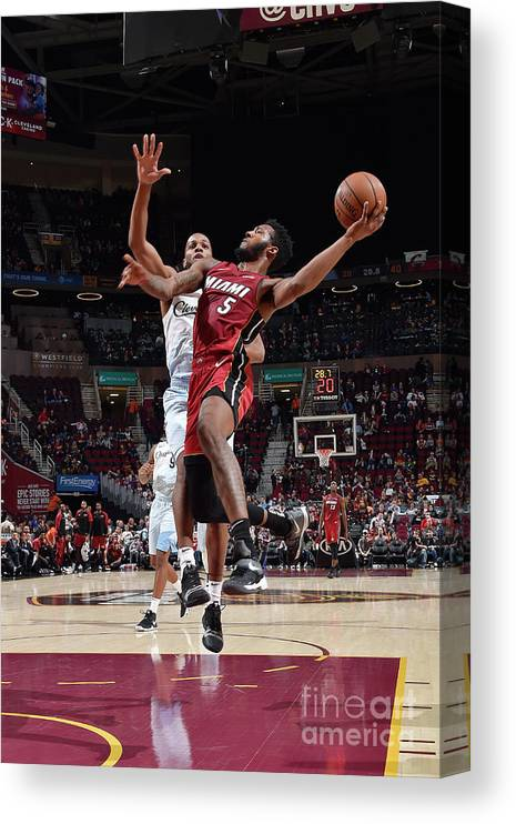 Nba Pro Basketball Canvas Print featuring the photograph Derrick Jones by David Liam Kyle