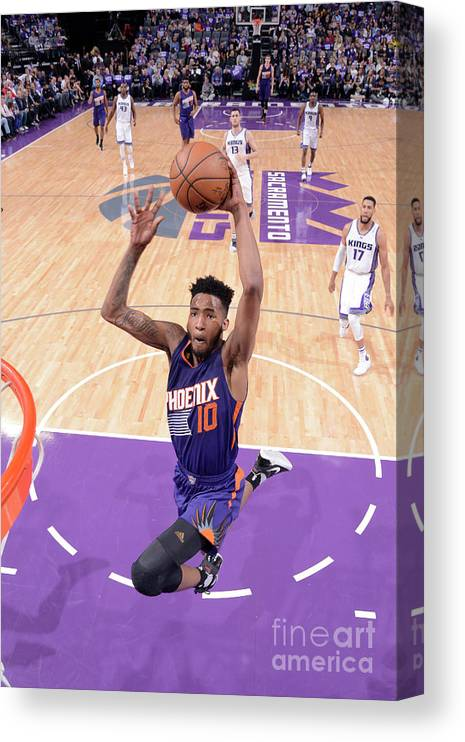 Nba Pro Basketball Canvas Print featuring the photograph Derrick Jones by Rocky Widner