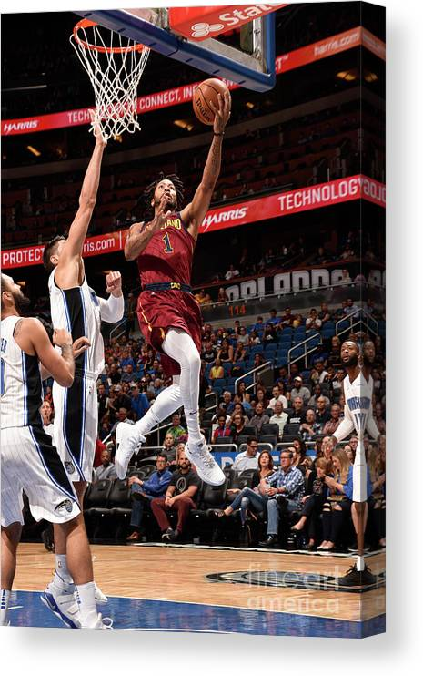 Nba Pro Basketball Canvas Print featuring the photograph Derrick Rose by Gary Bassing