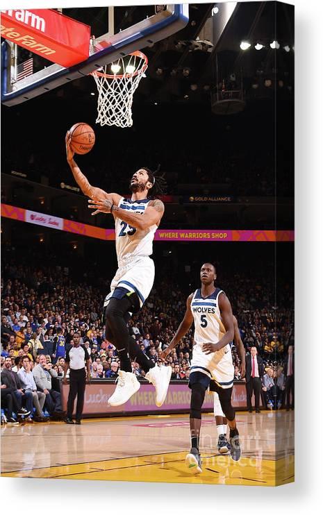 Nba Pro Basketball Canvas Print featuring the photograph Derrick Rose by Noah Graham