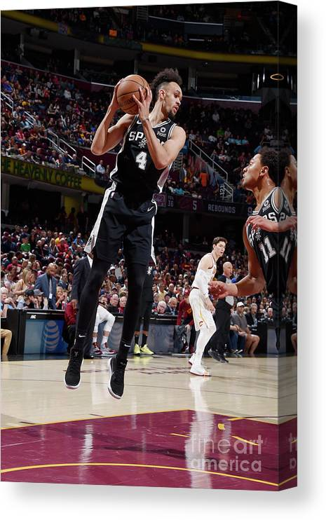 Nba Pro Basketball Canvas Print featuring the photograph Derrick White by David Liam Kyle