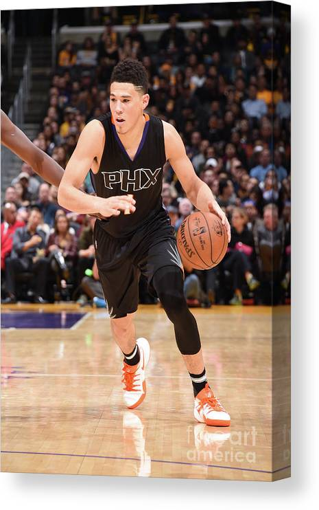 Nba Pro Basketball Canvas Print featuring the photograph Devin Booker by Andrew D. Bernstein