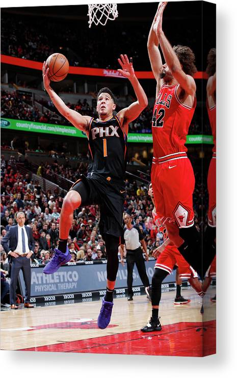 Nba Pro Basketball Canvas Print featuring the photograph Devin Booker by Jeff Haynes