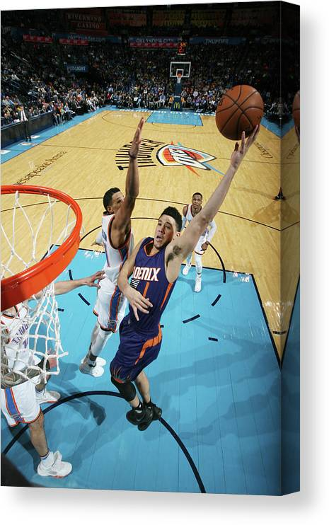 Nba Pro Basketball Canvas Print featuring the photograph Devin Booker by Layne Murdoch