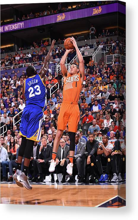 Nba Pro Basketball Canvas Print featuring the photograph Devin Booker by Noah Graham