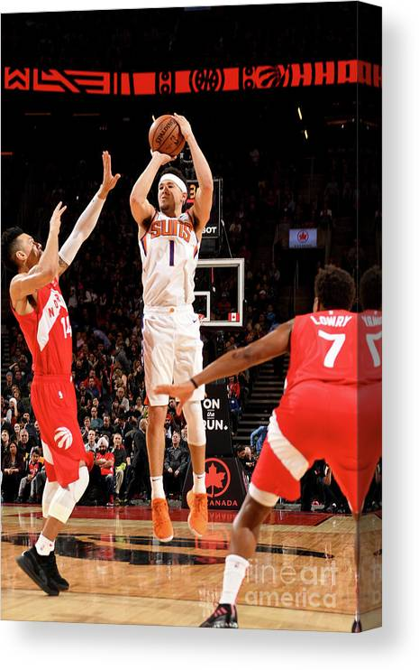 Nba Pro Basketball Canvas Print featuring the photograph Devin Booker by Ron Turenne