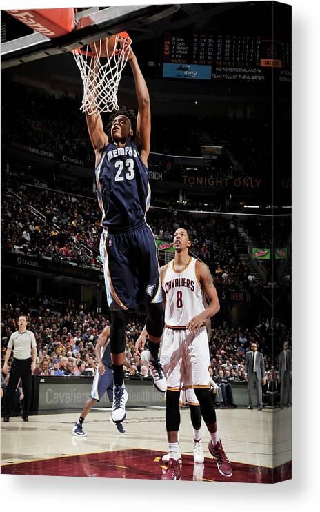 Nba Pro Basketball Canvas Print featuring the photograph Deyonta Davis by David Liam Kyle