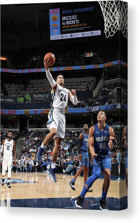 Nba Pro Basketball Canvas Print featuring the photograph Dillon Brooks by Joe Murphy