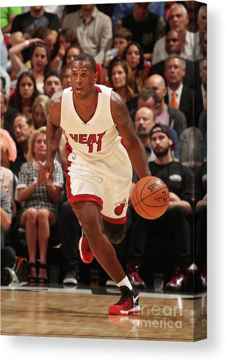 Nba Pro Basketball Canvas Print featuring the photograph Dion Waiters by Issac Baldizon
