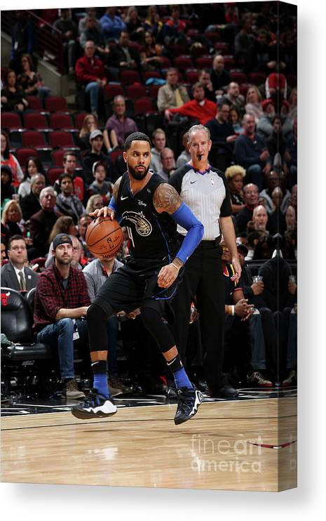 Nba Pro Basketball Canvas Print featuring the photograph D.j. Augustin by Gary Dineen