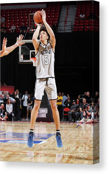 Nba Pro Basketball Canvas Print featuring the photograph D.j. Wilson by Jack Arent