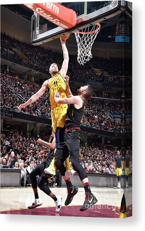 Playoffs Canvas Print featuring the photograph Domantas Sabonis by David Liam Kyle