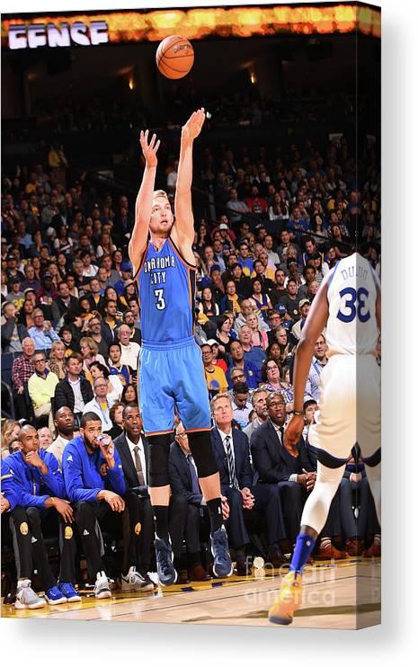 Nba Pro Basketball Canvas Print featuring the photograph Domantas Sabonis by Noah Graham