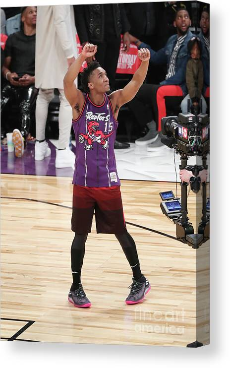 Event Canvas Print featuring the photograph Donovan Mitchell by Joe Murphy