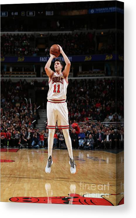 Nba Pro Basketball Canvas Print featuring the photograph Doug Mcdermott by Gary Dineen