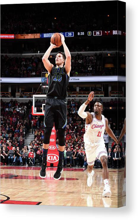 Nba Pro Basketball Canvas Print featuring the photograph Doug Mcdermott by Randy Belice