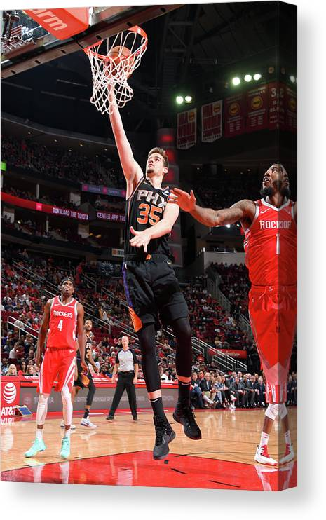 Nba Pro Basketball Canvas Print featuring the photograph Dragan Bender by Bill Baptist