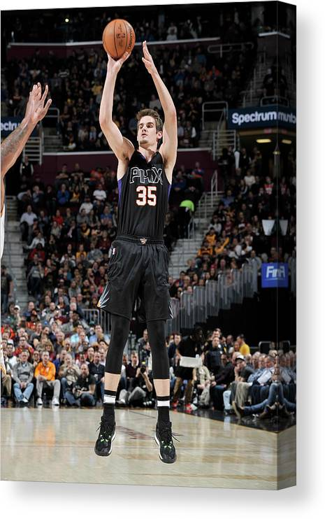 Nba Pro Basketball Canvas Print featuring the photograph Dragan Bender by David Liam Kyle