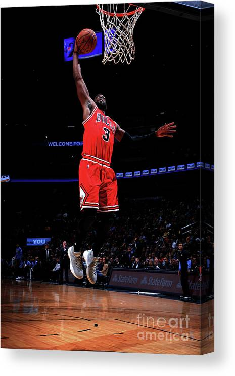 Nba Pro Basketball Canvas Print featuring the photograph Dwyane Wade by Bart Young