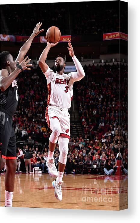 Nba Pro Basketball Canvas Print featuring the photograph Dwyane Wade by Bill Baptist